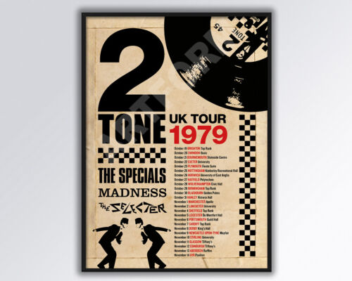 Madness The Specials Two Tone 1979 UK REIMAGINED Tour Poster
