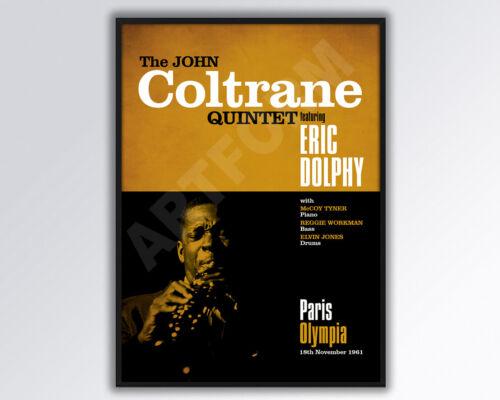 JOHN COLTRANE Quintet Paris Concert Poster Reimagined Poster A3 size.