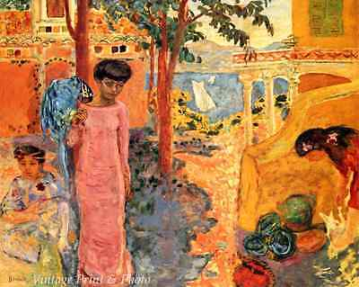 Girl with a Parrot by Pierre Bonnard - Art Summer Children Bird 8x10 Print 0665