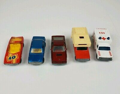 Vintage Matchbox Lot of 5 - Camper, Ambulance, Mercedes, Dodge, Vauxhall
