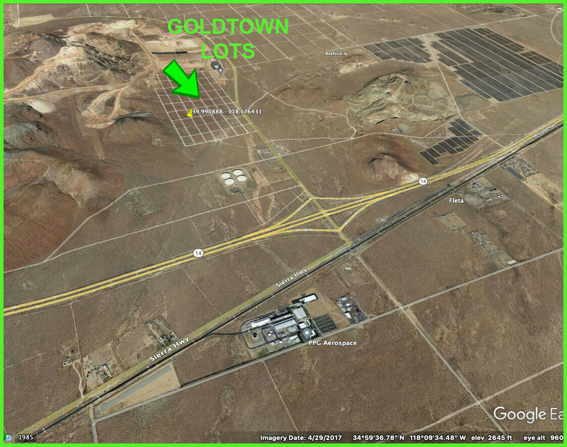 2 ADJOINING LOTS - GOLD TOWN AREA - KERN COUNTY - CALIFORNIA CA LAND - $99.00