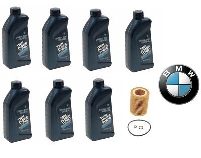 Bmw Genuine Oil Filter - 7-Quarts Genuine BMW Synthetic 5w30 Motor Oil &1-Oil Filter For BMW NEW