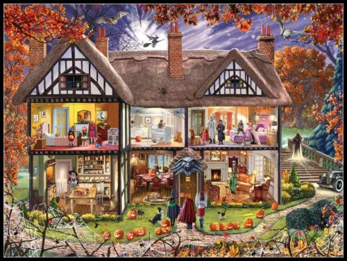 Halloween house - DIY Chart Counted Cross Stitch Patterns Needlework 14 ct