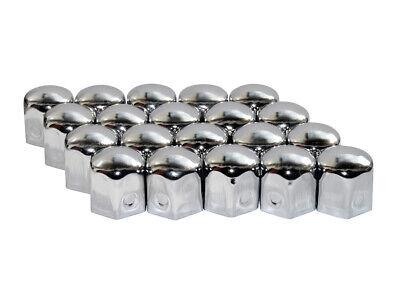 Tapones de Tornillos Rueda Cubierta Metal Gorras Cromo SW19mm 20 Piezas Tuercas