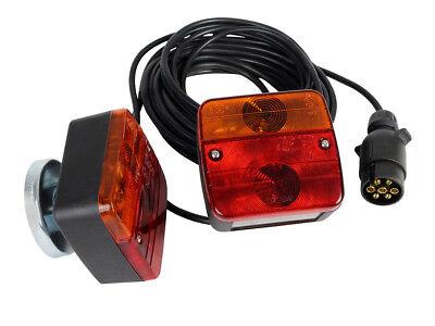 LAS Anhänger Beleuchtung Set inkl Magnet Rücklicht Rückleuchten 7-pol 12V 10155