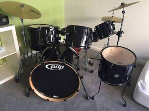 PDP Concept Maple 7 piece black drum kit, with hardware Randwick Eastern Suburbs Preview