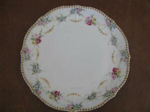 Vintage-Elite-Limoges-France-8-1-2-034-Plate-with-Gold-Beading