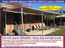 New  flat roof carport  3  x  9   $1250  or  3 x  12   $  1640 Thomastown Whittlesea Area Preview