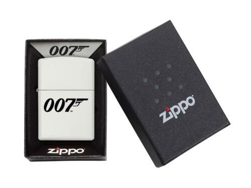 "ZIPPO ""JAMES BOND 007"" WHITE MATTE COLOR LIGHTER ** NEW in BOX ** MOVIES FILM"