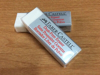 2x Faber Castell Dust Free Soft & Clean Eraser about 62mm/6.2cm/2.45in 18 71 20, used for sale  Shipping to India