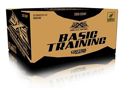 DXS Basic Training Paintballs Case of 2000 Rounds - Yellow Fill