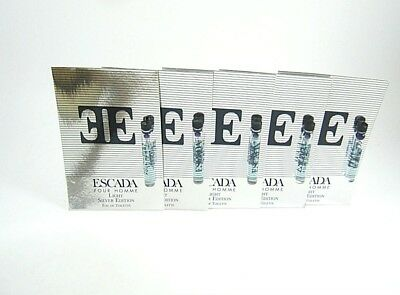 Escada Light Silver Edition for Men by Escada EDT Vial Splash 0.05 oz -Pack of 5