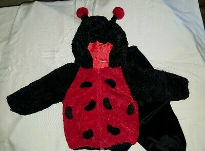 Lady Bug Infant Halloween Costume Baby 2 Piece Hooded Size 24 months uni-sex - Uni Halloween Costume