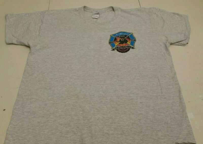 FDNY NYC Fire Department New York City T-shirt Sz XL Staten Island E 155