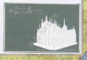 Cartolina-Illustrata-in-rilievo-Milano-Cattedrale-1900
