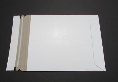 Lot Of 20  7x9 Rigid Photo White Cardboard Envelopes Mailers Stay Flat Plus