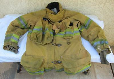 Lion Janesville Firefighter Fireman Turnout Gear Jacket Size 44.35.r - B G1