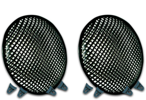 12 INCH SUBWOOFER SPEAKER COVERS WAFFLE MESH GRILL GRILLE PROTECT PAIR 2 W CLIPs