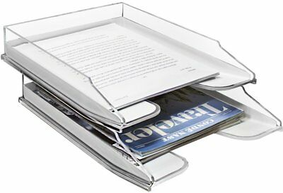 Sorbus Letter Tray Modern Acrylic Paper Organizer Tray Clear Desk File Holder