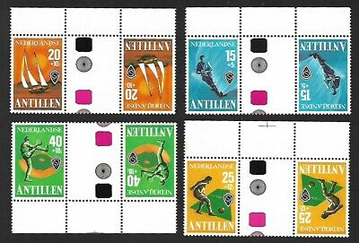 Netherland Antilles 4 sets in tete-beche MARGINAL pairs MNH (12 pairs)