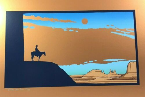 Anke Van Dun Monument Valley 1984 Signed Limited Edition Serigraph 32 of 125