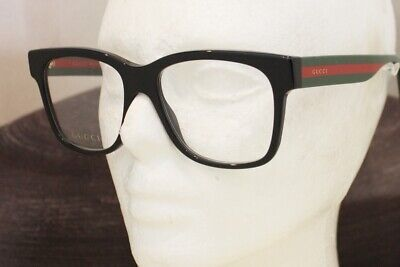 GUCCI GG 0342O eyeglasses Frame 004 Black Red Green 56mm MEN Italy (Gucci Red And Green Glasses)