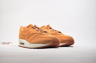NIKE AIR MAX 1 PREMIUM FLAX SAIL GUM MEDIUM BROWN 875844 203 SIZE 8