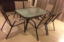 Like New Brown 7 piece Outdoor Setting Furniture. Table + 6 Chairs Cranbourne North Casey Area Preview
