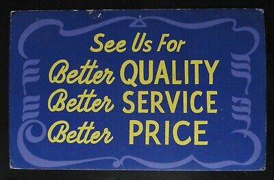 Authentic Vintage 30's - 40's Litho or Silk Screen Sign / Placard for Sales!