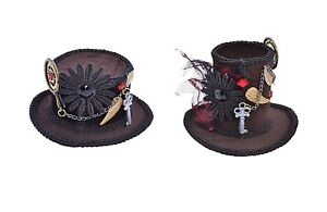 VICTORIAN-EDWARDIAN-STEAMPUNK-TOP-MINI-HATS-FANCY-DRESS-COSTUME-ACCESSORY