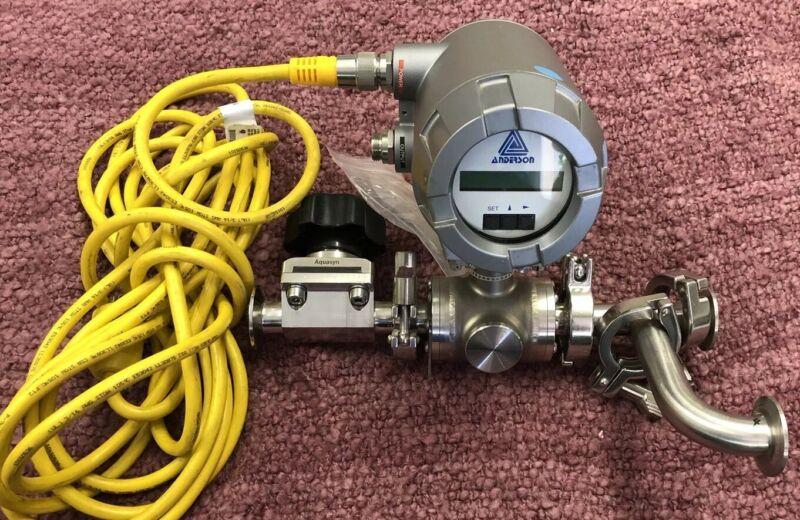 ANDERSON SANITARY ELECTROMAGNETIC FLOWMETER MODEL TMF1E111