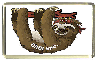Sloth Fridge Magnet - Chill Bro.