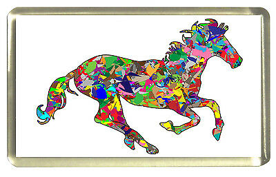 Psychedelic Horse Fridge Magnet