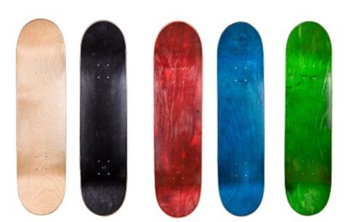 """Cal 7 8.0"""" Skateboard Deck Blank Maple, Black,Red,Green,Nature,Red Colors Option"""