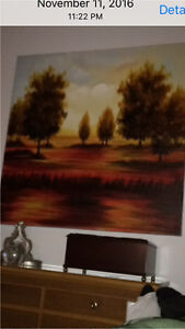 A large canvas painting