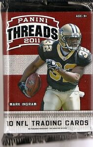 2011 Panini Threads Football Retail 6 Pack Lot