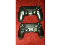 2x ps4 controllers read description