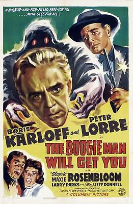 THE BOOGIE MAN WILL GET YOU Movie POSTER 27x40 B](Boogie Man Movie)