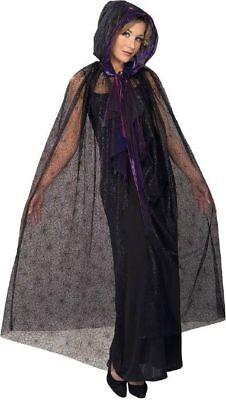 Halloween Damen Vampir Spinnen Kostüm Hexe Gothic Cape