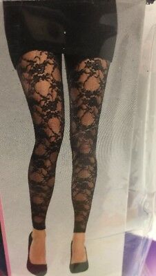 halloween Adult Lace Footless Tights 1 PR ~ 1 Size Fits Most](Halloween Pr)