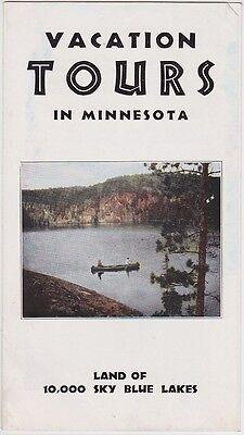 1930's Minnesota Vacation Tours Brochure