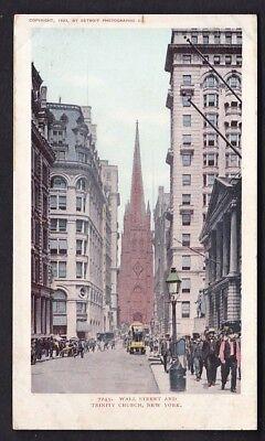 USA NEW YORK Wall St Trinity Church c1902 u/b PPC