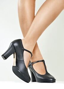 Black T Strap Character Shoes