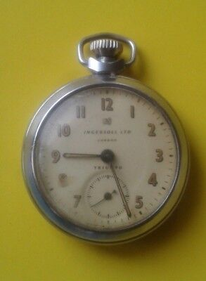 INGERSOLL LTD -TRIUMPH- LONDON POCKET WATCH (WORKING)