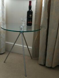 dwell Tripod glass side table (x2)