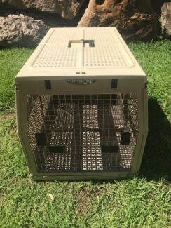 Large Pet Crate Carrier Transport Foldable - Fit M-L Dog/Pup VGC