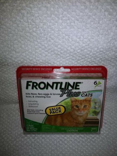 BrandNew Sealed Frontline Plus Flea and Tick Treatment for Cats - 6 Doses
