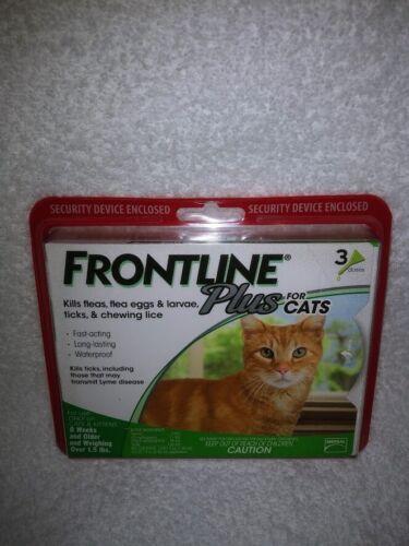 BrandNew Sealed FRONTLINE Plus Flea & Tick Treatment for Cats & Kittens  3 Doses