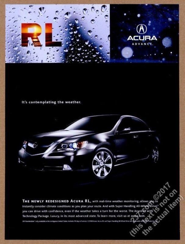 2009 Acura RL car photo vintage print ad