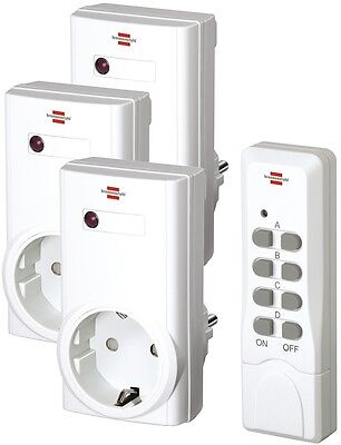 Brennenstuhl Funk Steckdosen Schalter Set + Fernbedienung RCS 1000 N Comfort NEU